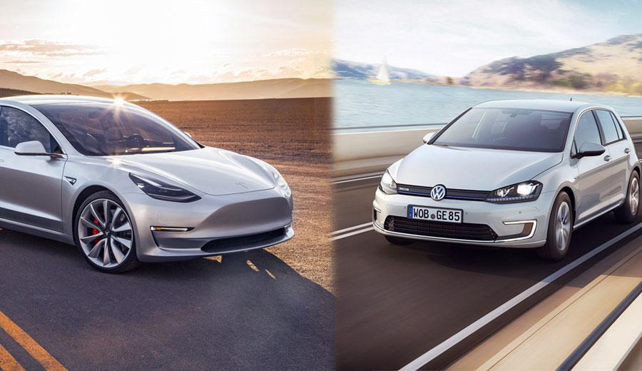 E-Golf vs Model 3: a Volkswagen consegue superar a Tesla? - Loocalizei