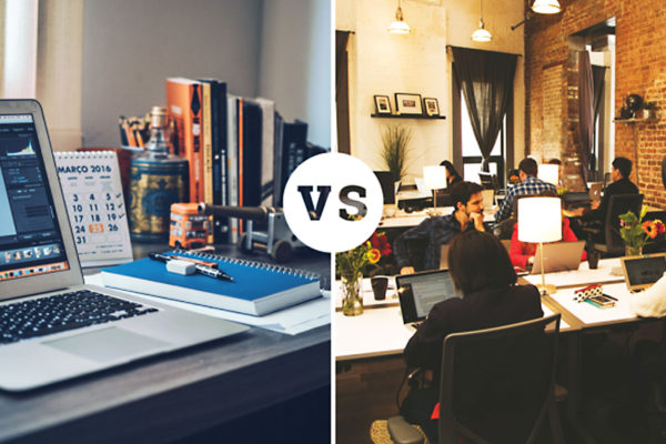 Home office ou coworking