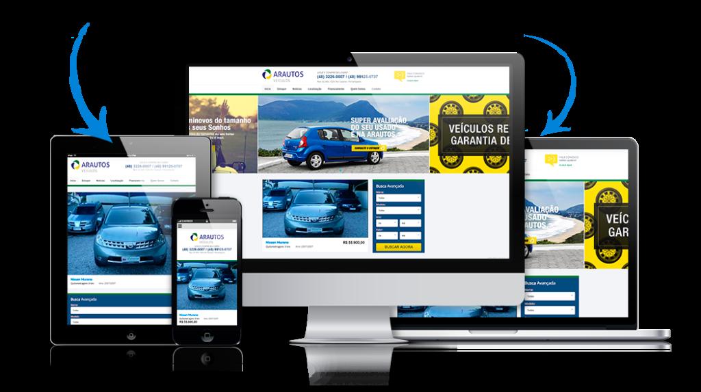Criação de Site para Lojas de Carros